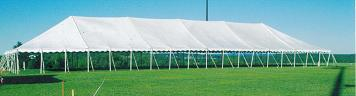 40x120 foot tent at Holy Cross.