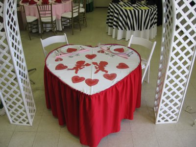 Toomey's Rents Heart Shaped Tables